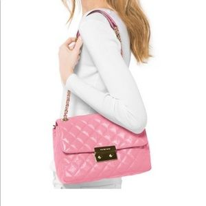 Michael Kors Sloan Large Quilted Patent Bag